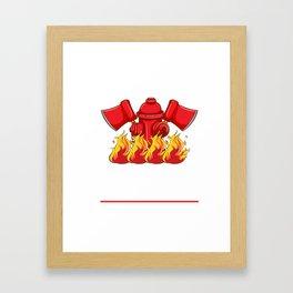 Firefighter T-Shirt For Son/Stepson Framed Art Print