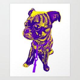 Diego the pug Art Print