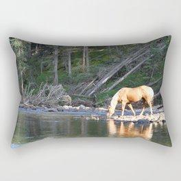 Gelding in Golden Light Rectangular Pillow