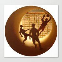 football Canvas Prints featuring Football by Anastassia Elias