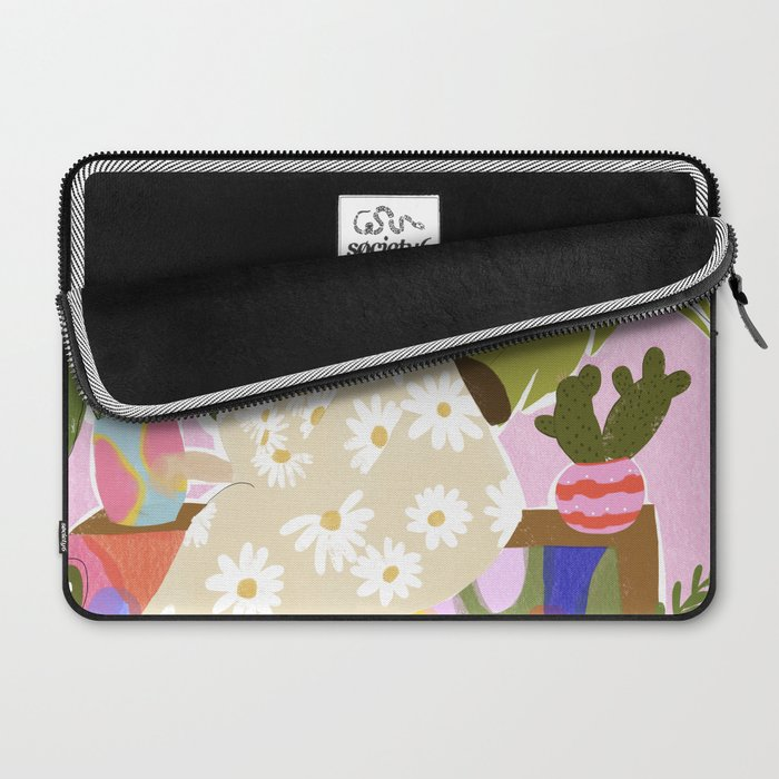 Hanging out with plants Laptop Sleeve