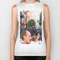 it crowd Biker Tanks featuring Crowd  by osile ignacio