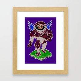 Hang Loose, Winged Eye-Face Framed Art Print