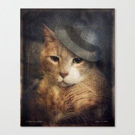 Vinnie Valentino - Ginger Cat Portrait Canvas Print