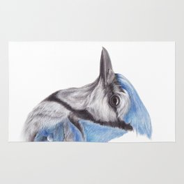 Blue Jay - CYANOCITTA CISTATA | Watercolour | Painting | Animal | Nature | Art Rug
