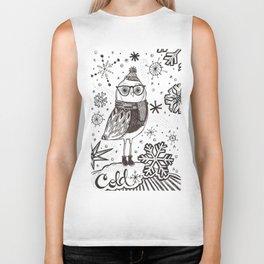 Cold Winter Owl Biker Tank
