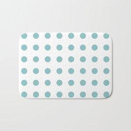 Chalky Blue Polka Dots Bath Mat