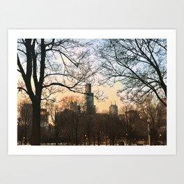 Late January Sunset Art Print