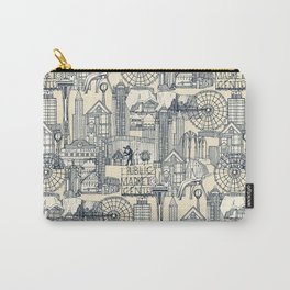 Seattle indigo cream Carry-All Pouch