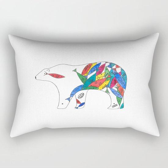 The Mayan Polar Rectangular Pillow