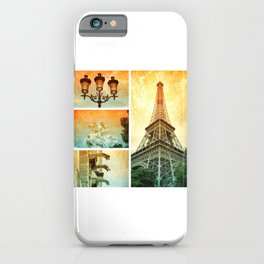 Drama of Paris Collage iPhone Case