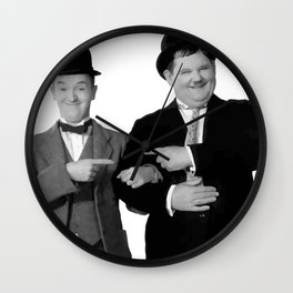 Mr Stan Laurel and Mr Oliver Hardy Wall Clock