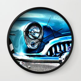 Blue Buick  Wall Clock