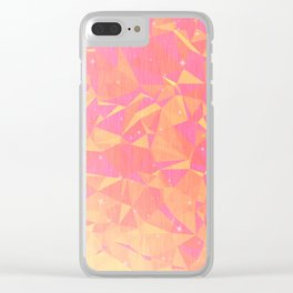 Sunny Flying Geometric Birds Design Clear iPhone Case