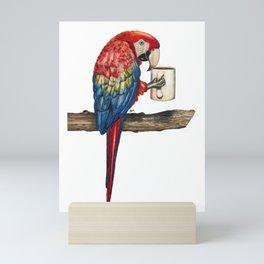"""Macawfee in the Morning"" - Java Jungle collection Mini Art Print"