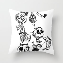 Bone Heads Throw Pillow