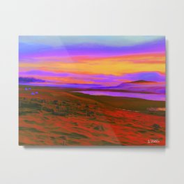 Psychedelic Iceland Metal Print