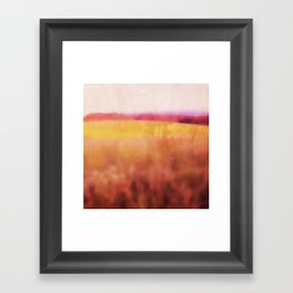Pink Meadow Framed Art Print