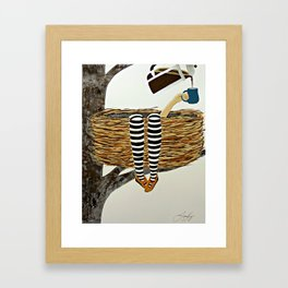 Nest Service - Awaiting her Coffee Framed Art Print