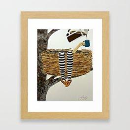 Nest Service - Awaiting her Coffee Framed Art Print
