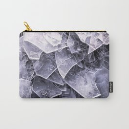 Cracked Ice Tiles In Lake Shore #decor #buyart #society6 Carry-All Pouch