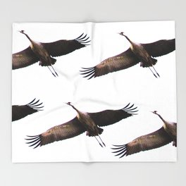 Cranes in flight #decor #society6 Throw Blanket