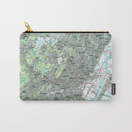 Newark NJ and Surrounding Areas Map (1986) Carry-All Pouch