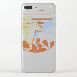 And They're Off | Fun Horse Racing Horse Riding Gift graphic Clear iPhone Case