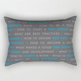 Blue Web Design Keywords Poster Rectangular Pillow