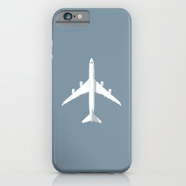 747-8 Jumbo Jet Airliner Aircraft - Slate iPhone Case