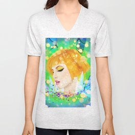Digital Painting - Hayley Williams Unisex V-Neck