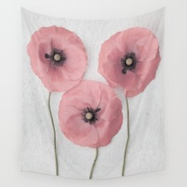 Pink Poppies Wall Tapestry