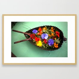 Flowery salad Framed Art Print