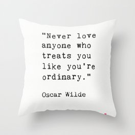 Oscar Wilde quote 50 Throw Pillow