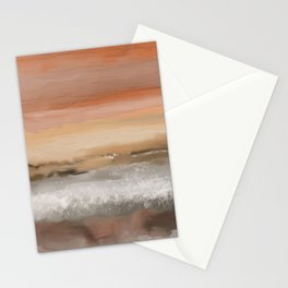 Ocean in Sunset Orange Stationery Cards