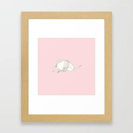 Pink Armadillo Framed Art Print