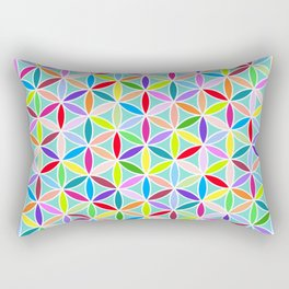 Flower of Life Pattern – Multicoloured Rectangular Pillow