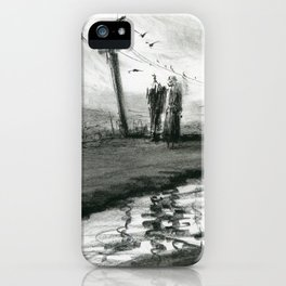 Ink and Carbon Pencil iPhone Case