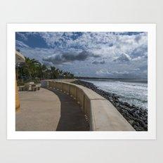 Aguadilla ocean view Art Print