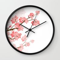 cherry Wall Clocks featuring Cherry by Ale Ibanez
