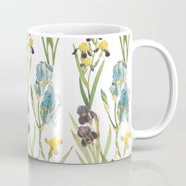 Vintage Floral Pattern | No. 2B | Iris Flowers | Irises Coffee Mug