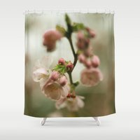 blossom Shower Curtains featuring blossom by EnglishRose23