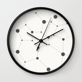 Hexagon grid Wall Clock
