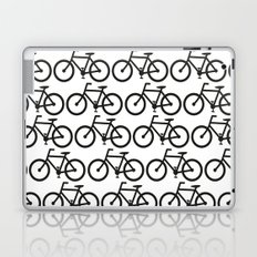 Bicycle Stamp Pattern - Black and White - Fixie Fixed Gear Bike Laptop & iPad Skin