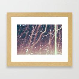 Laser Beams Framed Art Print
