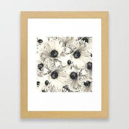 Ivory Moonlight Floral Framed Art Print