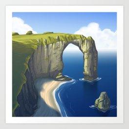 Rock and Water Art Print