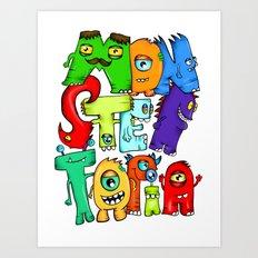 Monster Topia Art Print