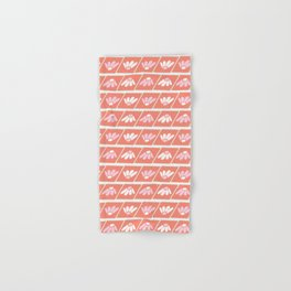 Retro spring floral geometric diamond with daisies stripes Hand & Bath Towel