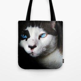 Cat siamese blue eyes Tote Bag